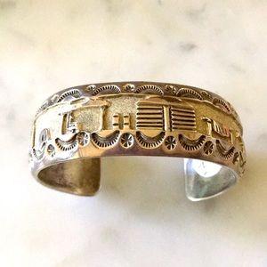 Vintage Navajo Native Amer Storyteller Bracelet